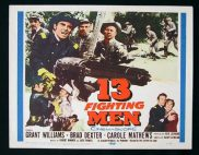 13 FIGHTING MEN 1960 Grant Williams Title Lobby Card