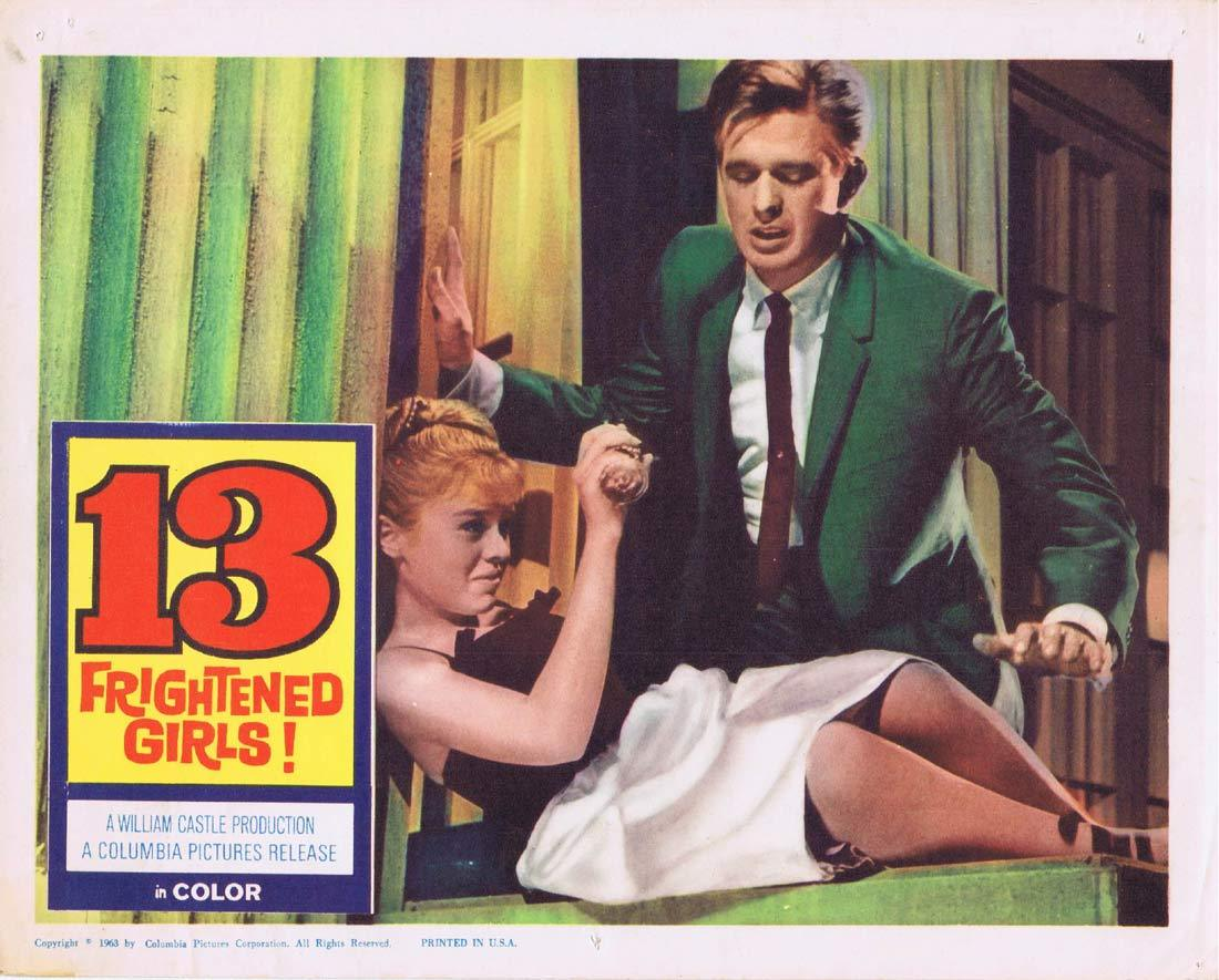 13 FRIGHTENED GIRLS Lobby Card 3 Murray Hamilton William Castle