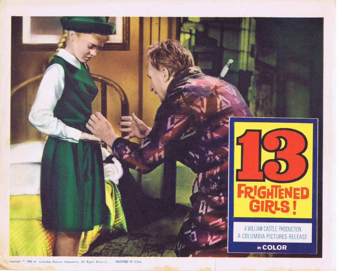 13 FRIGHTENED GIRLS Lobby Card 5 Murray Hamilton William Castle