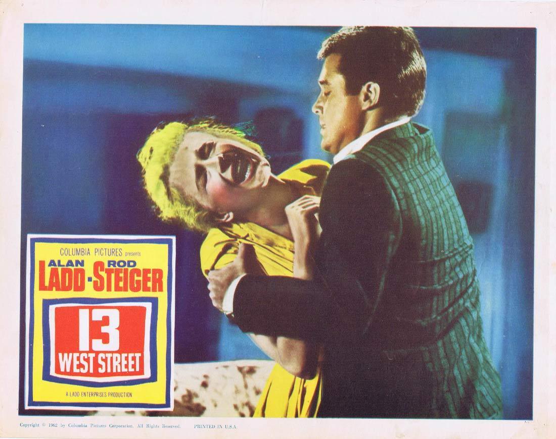 13 WEST STREET Original Lobby Card Alan Ladd Rod Steiger