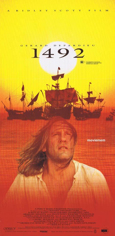 1492 Original Daybill Movie Poster Gérard Depardieu Armand Assante
