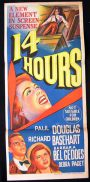 14 FOURTEEN HOURS Daybill Movie Poster 1951 Paul Douglas FILM NOIR
