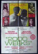 2000 WEEKS Movie Poster 1969 Rare Australian Film One sheet Movie Poster