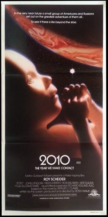 2010 The Year We Make Contact Original daybill Movie poster Roy Scheider Sci FI