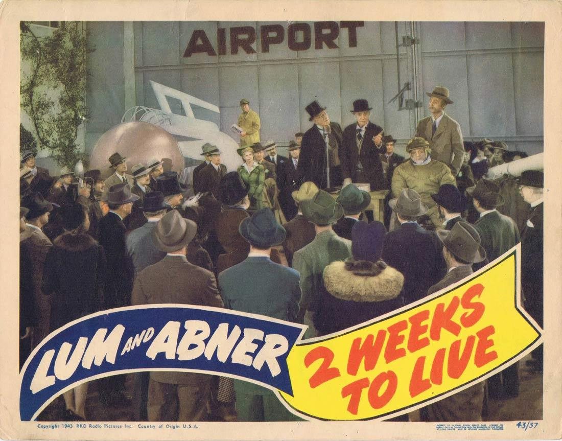 2 WEEKS TO LIVE Lobby Card Chester Lauck Norris Goff Lum and Abner