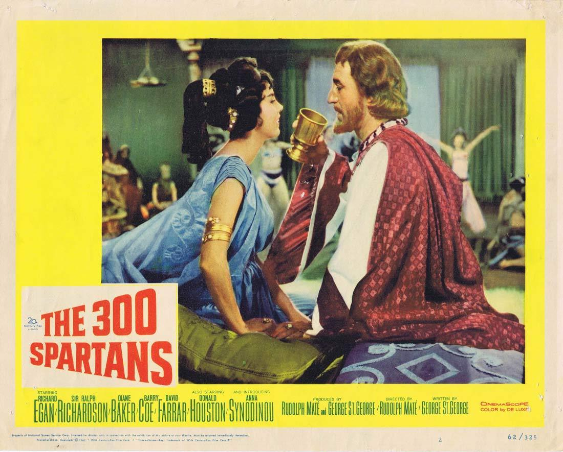 THE 300 SPARTANS Original Lobby Card 2 Richard Egan Rudolph Mate