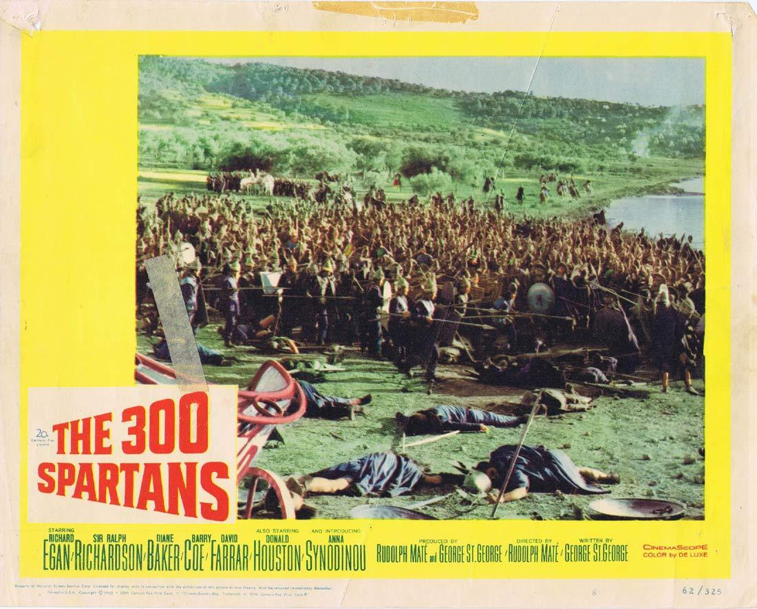 THE 300 SPARTANS Original Lobby Card 6 Richard Egan Rudolph Mate