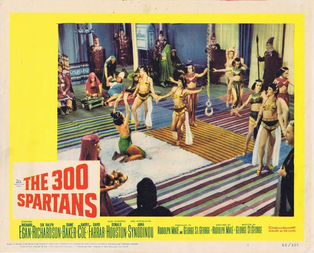 THE 300 SPARTANS Original Lobby Card 7 Richard Egan Rudolph Mate