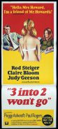 3 INTO 2 WON'T GO Daybill Movie Poster Rod Steiger