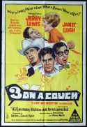 3 ON A COUCH Original One sheet Movie Poster Jerry Lewis Janet Leigh James Best