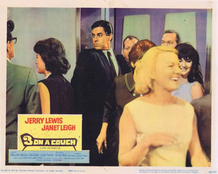 3 ON A COUCH Lobby Card 1 Jerry Lewis Janet Leigh