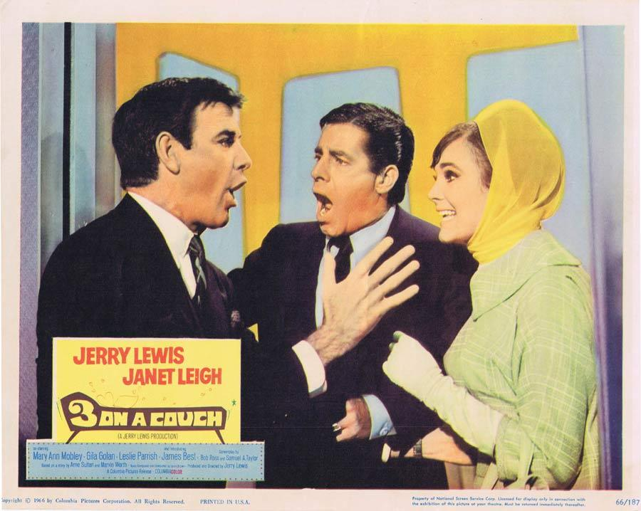 3 ON A COUCH Lobby Card 4 Jerry Lewis Janet Leigh