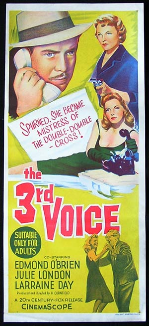 THE 3RD VOICE '60-Edmond O'Brien-JULIE LONDON poster