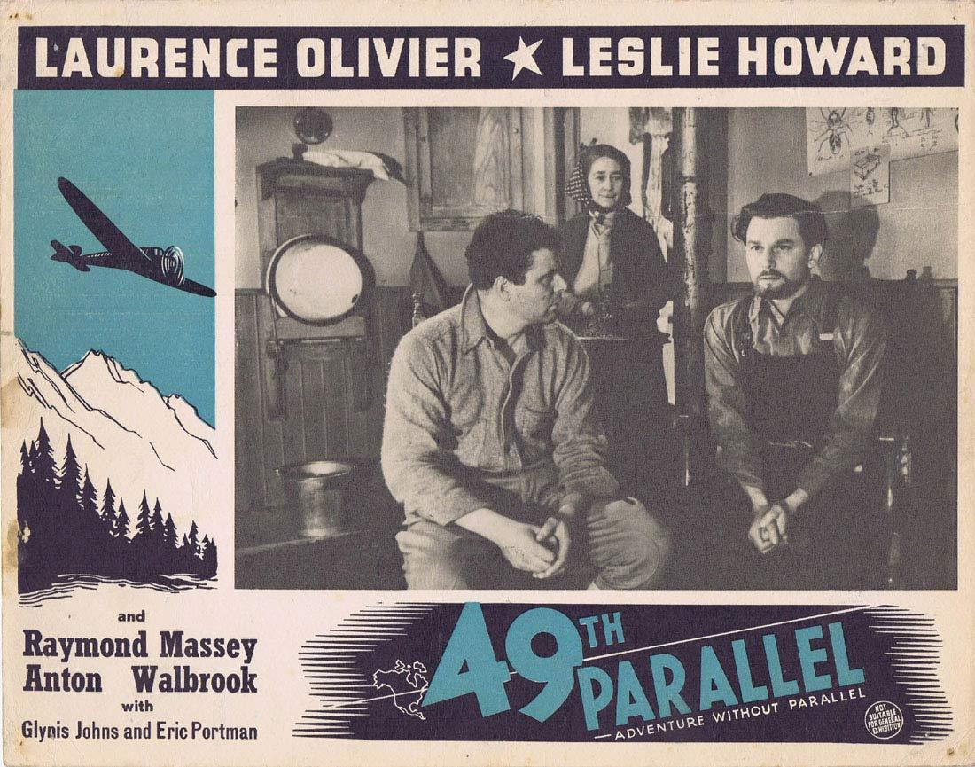 THE 49TH PARALLEL Original Australian Lobby Card Leslie Howard Laurence Olivier