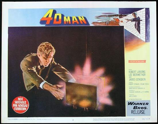 4D MAN 1959 Robert Lansing SCI FI Invisible Man! Lobby card 2