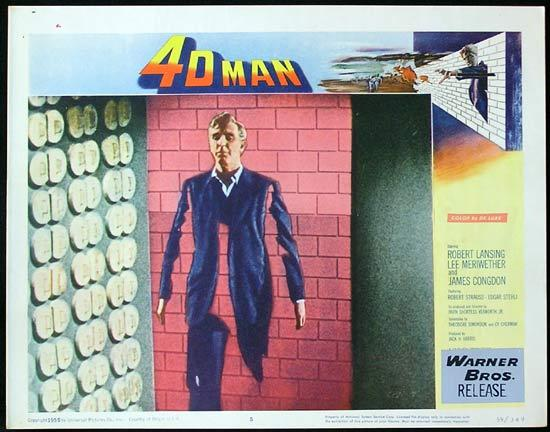 4D MAN 1959 Robert Lansing SCI FI Invisible Man! Lobby card 5