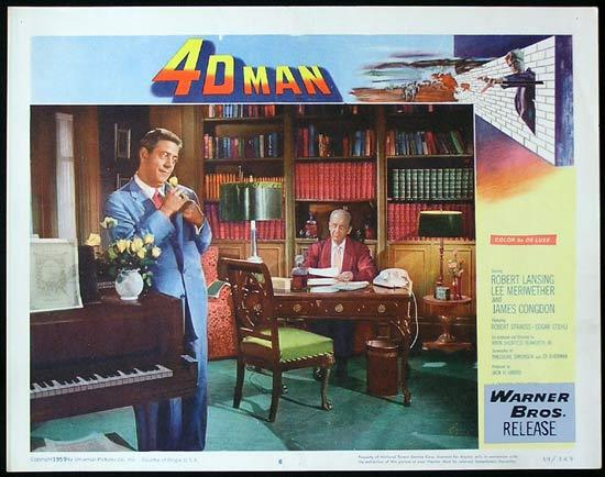 4D MAN 1959 Robert Lansing SCI FI Invisible Man! Lobby card 6