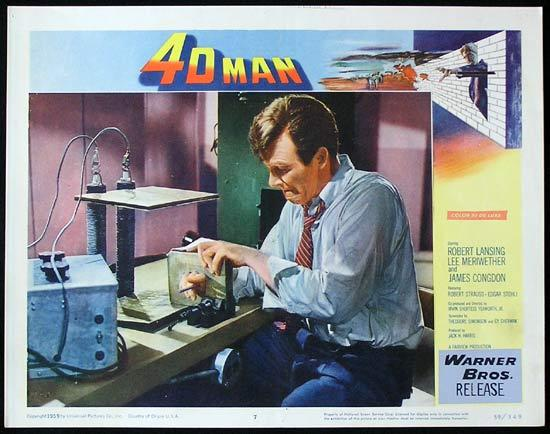 4D MAN 1959 Robert Lansing SCI FI Invisible Man! Lobby card 7