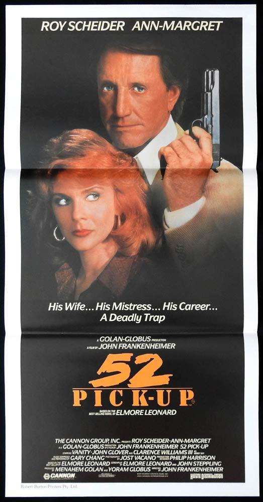 52 PICK UP Daybill Movie poster Roy Scheider Ann-Margret Film Noir