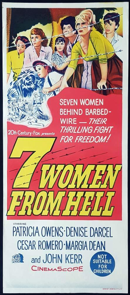 7 WOMEN FROM HELL Original Daybill Movie Poster Patricia Owens New Guinea