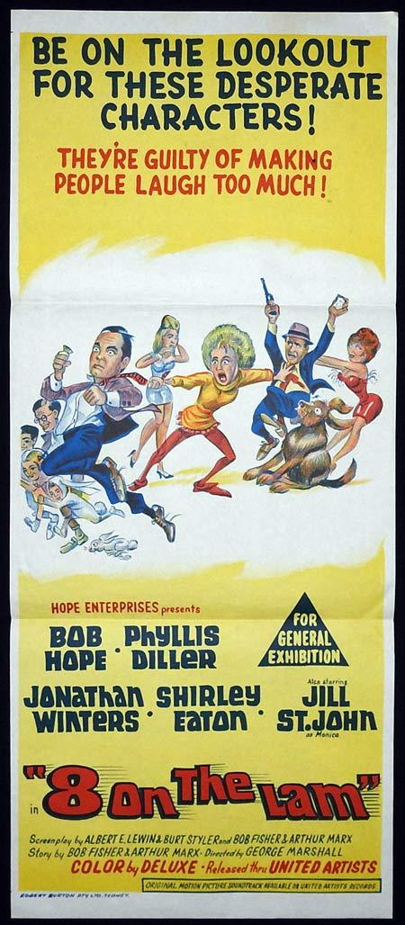 8 ON THE LAM Original Daybill Movie Poster Bob Hope Phyllis Diller