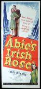 ABIE'S IRISH ROSE Original Daybill Movie Poster Michael Chekhov Joanne Dru