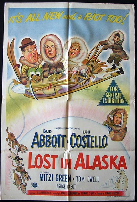 LOST IN ALASKA 1952 Rare ORIGINAL one sheet Movie poster Abbott and Costello