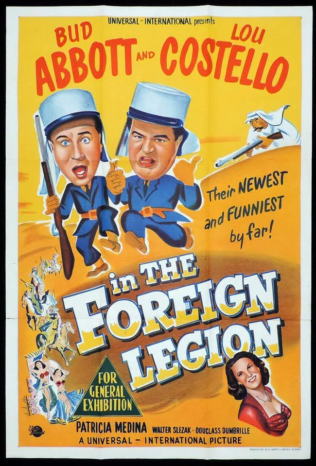 ABBOTT AND COSTELLO IN THE FOREIGN LEGION One sheet Movie poster