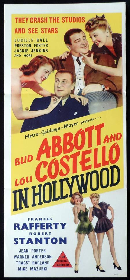 ABBOTT AND COSTELLO IN HOLLYWOOD Daybill Movie poster Marchant Graphics