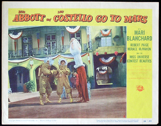 ABBOTT AND COSTELLO Go to Mars Original Lobby Card