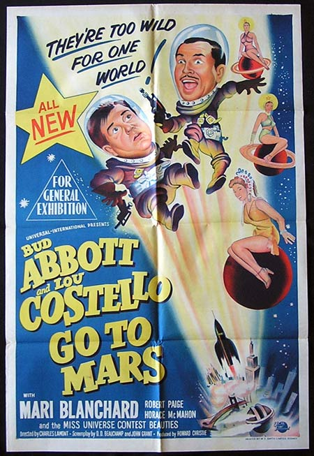 ABBOTT AND COSTELLO GO TO MARS Original one sheet Movie poster