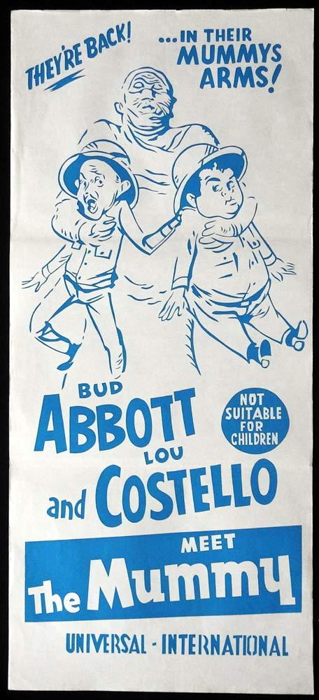 ABBOTT AND COSTELLO MEET THE MUMMY 60sr Daybill Movie Poster Lou Costello Bud Abbott