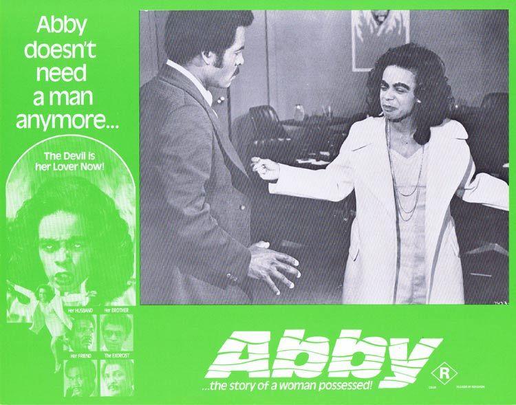 ABBY Lobby card 2 Horror Exorcism Blaxploitation William H. Marshall
