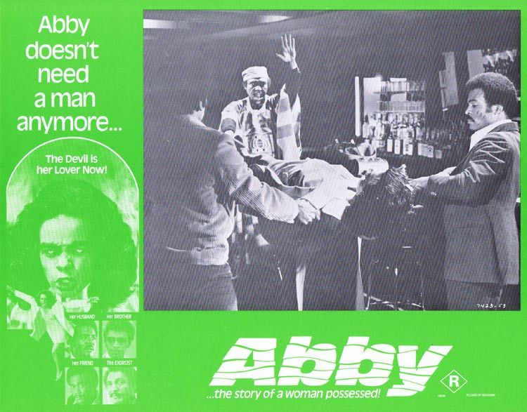 ABBY Lobby card 5 Horror Exorcism Blaxploitation William H. Marshall