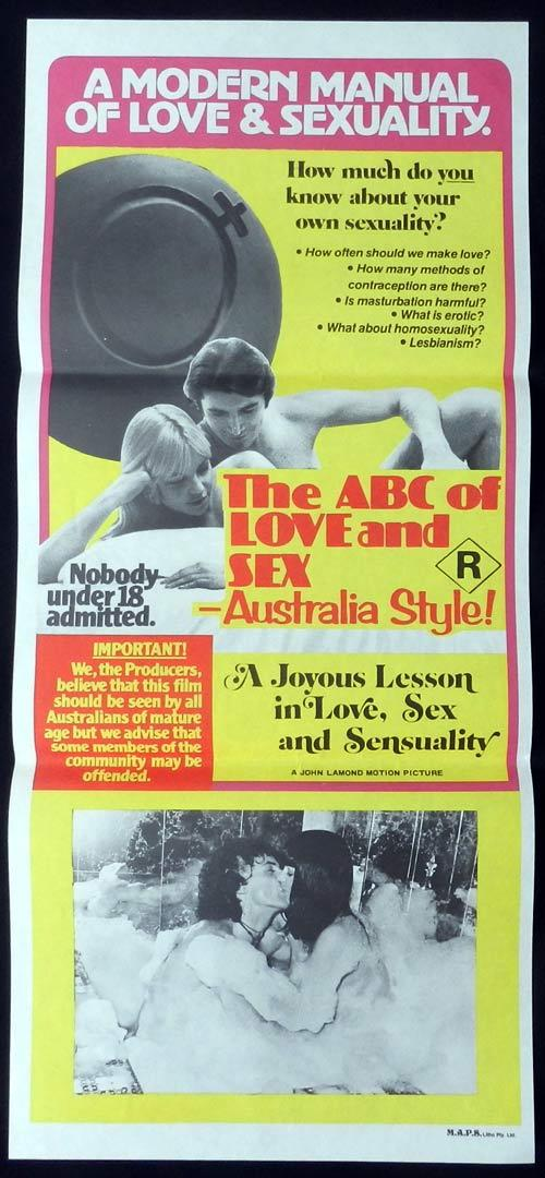 THE ABC OF LOVE AND SEX 1978 Australia Style Daybill Movie poster