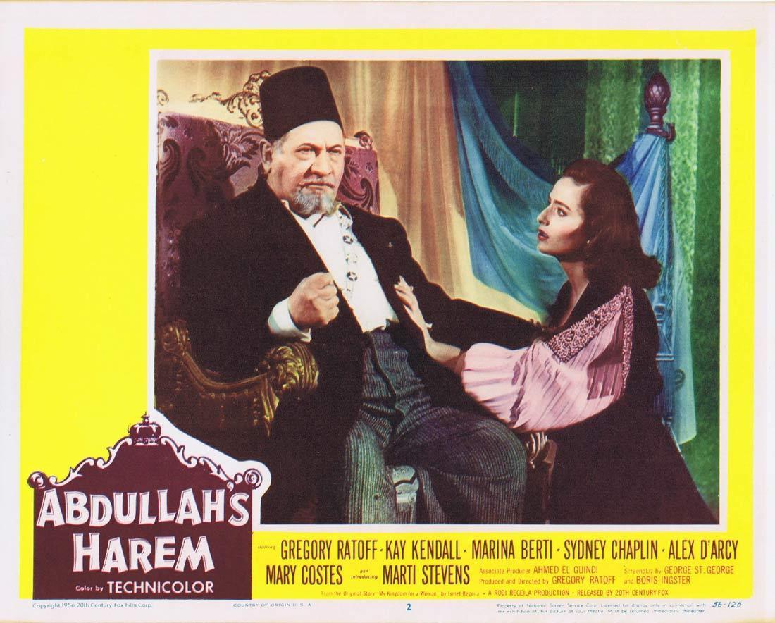 ABDULLAH'S HAREM Lobby Card 2 Gregory Ratoff Kay Kendall Marina Berti