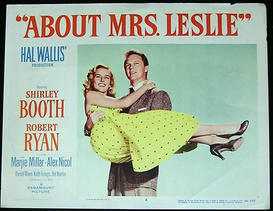 ABOUT MRS LESLIE 1954 Robert Ryan Shirley Booth Lobby Card 6