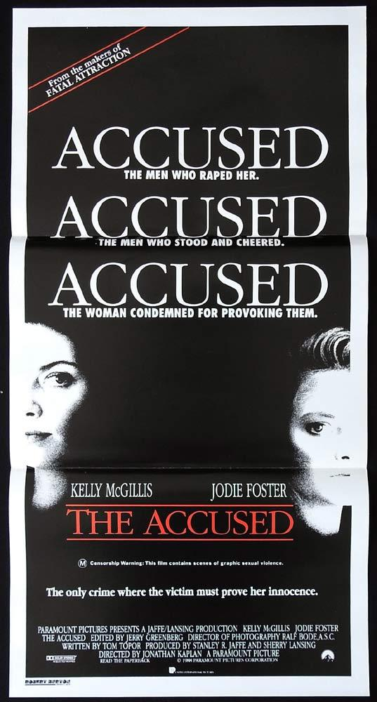 THE ACCUSED Original Daybill Movie Poster Kelly McGillis Jodie Foster Leo Rossi