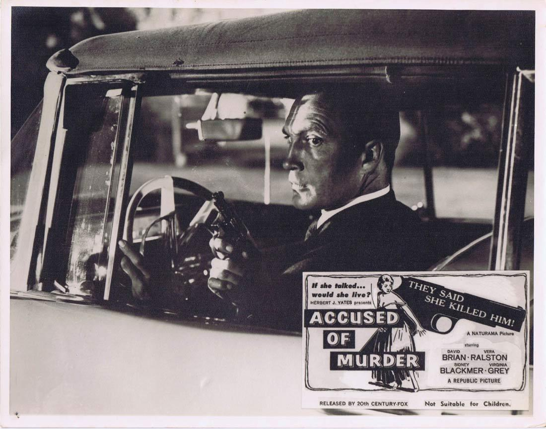 ACCUSED OF MURDER Lobby Card 3 David Brian Vera Ralston Sidney Blackmer  Film Noir