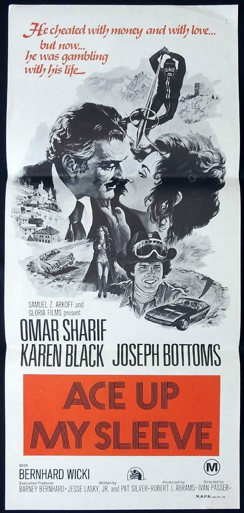 ACE UP MY SLEEVE aka Crime and Passion Original Daybill Movie poster Omar Sharif