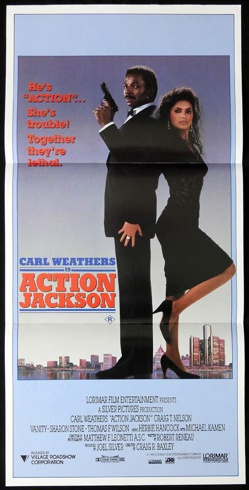 ACTION JACKSON Original daybill Movie poster Carl Weathers Craig T. Nelson