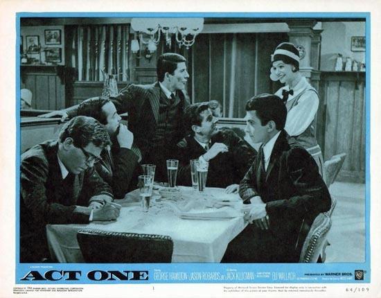 ACT ONE 1964 George Hamilton US Lobby card 1