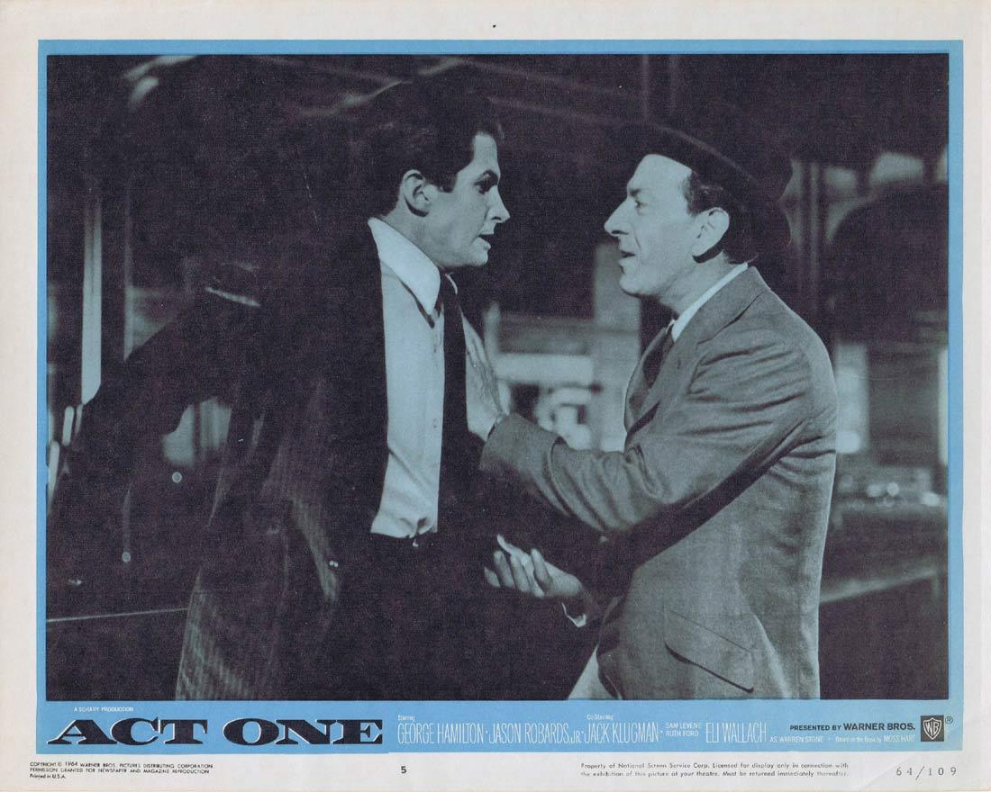 ACT ONE Lobby Card 5 George Hamilton  Jack Klugman