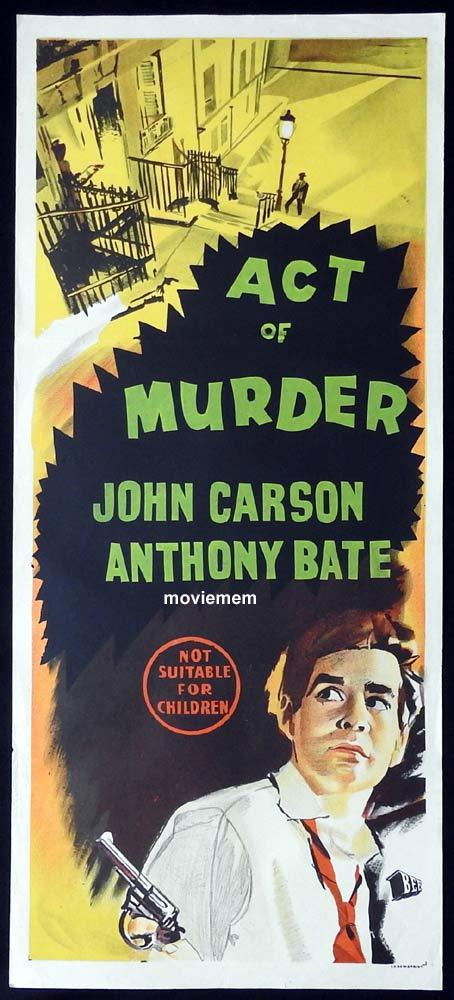 ACT OF MURDER Original Daybill Movie Poster Edgar Wallace Film Noir