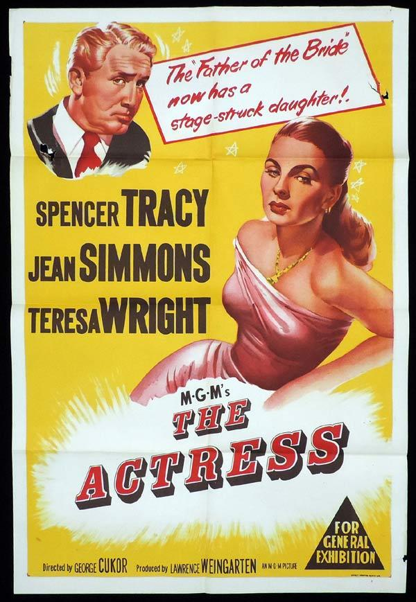 THE ACTRESS One Sheet Movie Poster Jean Simmons Spencer Tracy