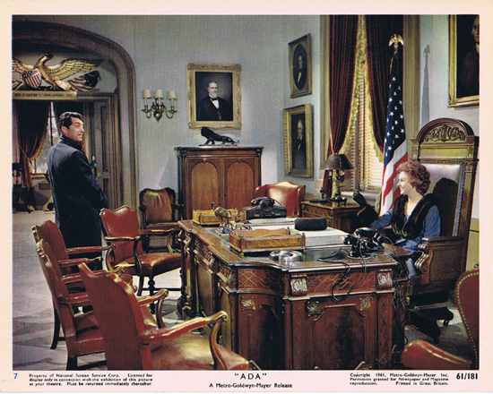 ADA 1961 Vintage Colour Movie Still 7 Dean Martin and Susan Hayward in the Govenors office