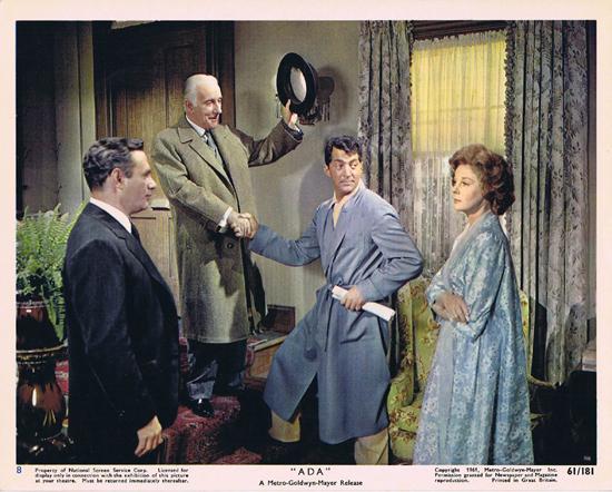 ADA 1961 Vintage Colour Movie Still 8 Dean Martin Wilfrid Hyde White Susan Hayward in the Govenors office
