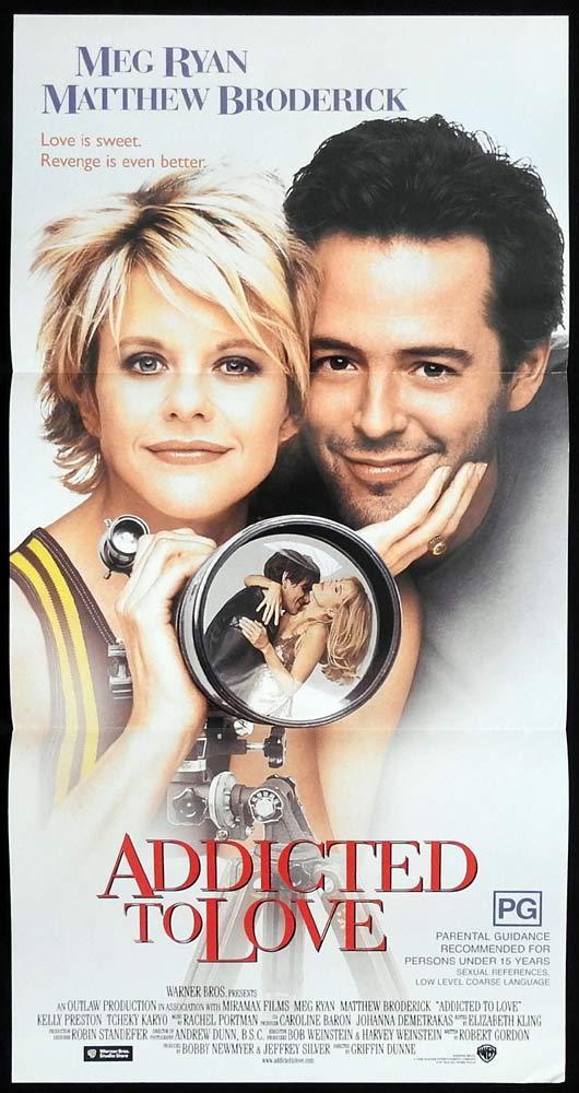 ADDICTED TO LOVE Original Daybill Movie poster Matthew Broderick Meg Ryan