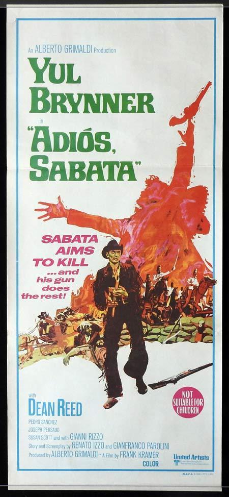 Adios Sabata Yul Brynner vintage movie poster