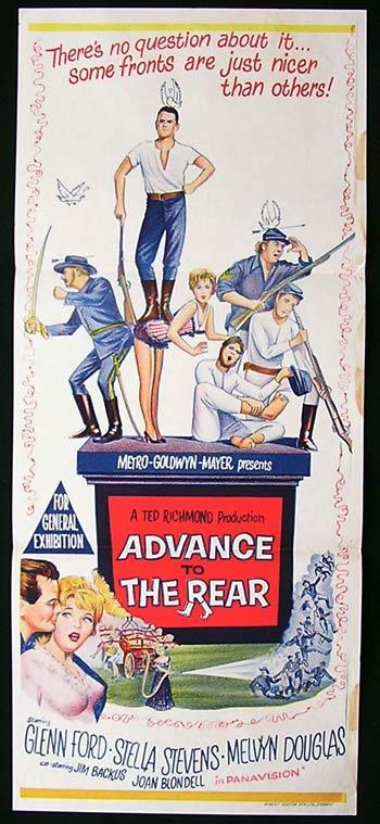 ADVANCE TO THE REAR Daybill movie poster 1964 Glenn Ford